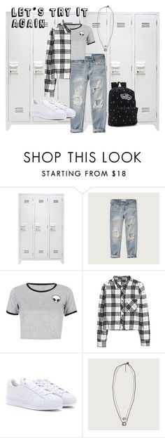 """Tuesday"" by irisjwang on Polyvore featuring Abercrombie & Fitch, WithChic, H&M, adidas and Vans"