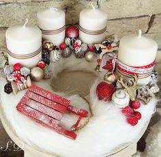 Christmas Advent Wreath, Christmas Home, Christmas Crafts, Winter Christmas, Candle Centerpieces, Christmas Centerpieces, Xmas Decorations, Advent Candles, Diy Weihnachten