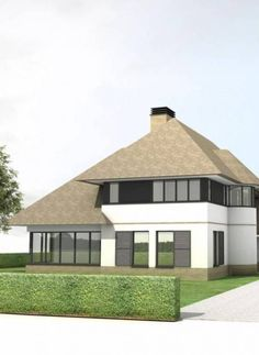 Woonhuis Lochem Thatched House, Thatched Roof, Classic Window, Sims 4 Houses, House Goals, Modern House Design, Bungalow, My House, Gazebo
