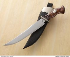 Master Smith Aubrey Barnes, Sr has work has been published in Knife World, Blade Magazine, Knives Illustrated, Knives Annual, the cover of Knives '97, The Wonder of the Blade, Art of the Knife, and magazines in France and Brazil.