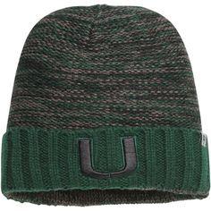 79e9b36e9f4 Miami Hurricanes Top of the World Oblique Cuffed Knit Hat – Black Green