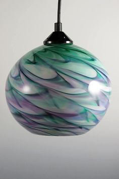 CX Optic Globe Pendant by Mark Rosenbaum: Art Glass Pendant Lamp available at www.artfulhome.com