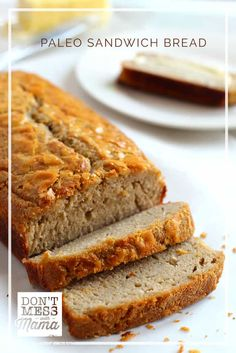 Going Paleo, low carb or grain free? Miss bread? You'll love this easy, nut-free Paleo Sandwich Bread. It's so easy to make - just a few ingredients - and tastes so moist. It's perfect for making sandwiches or even just toasted with a pat of butter. Paleo Sandwich Bread, Healthy Bread Recipes, Sandwich Bread Recipes, Best Paleo Recipes, Paleo Bread, Primal Recipes, Low Carb Bread, Whole Food Recipes, Great Recipes