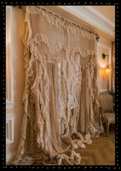 House Gown Curtains by Sera & Sestra — Sera of London Country Bedroom Design, French Country Bedrooms, Shabby Chic Curtains, Muslin Curtains, Vintage Curtains, Boho Glam Home, Bohemian Bedroom Decor, Bedroom Inspo, Welcome To My House