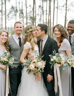 Dreamy Vintage-Inspired Florida Camp Wedding: Val + Lee – Coralie Beatrix Bridesmaids Dresses