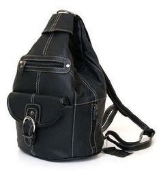 Convertible Back Pack Purse, Mid Size Tear Drop Shoulder Bag, Backpack, Sling Bag. Genuine Leather --- http://www.pinterest.com.tocool.in/5jn