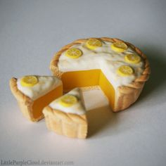 :iconlittlepurplecloud: Polymer Clay Lemon Meringue Pieby LittlePurpleCloud Artisan Crafts / Miniatures / Other©2012-2014 LittlePurpleCloud A small lemon meringue pie I made of polymer clay (cernit clay). The pie is about 3,5 cm in diameter. Hope you like it, and please visit my page to see my other polymer clay creations! =P :iconharleyquinnade456: harleyquinnade456 - Add a Comment: :iconheuif: heuif Feb 15, 2014 Hello there! A very good day to you. I found you from deviant art and think it…
