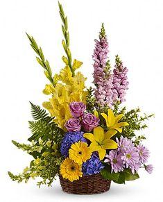 loves tapestry sympathy flower arrangements | Love's Tapestry Flowers, Love's Tapestry Flower Bouquet - Teleflora ...