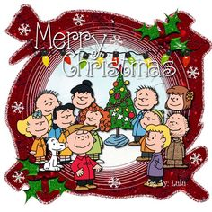 Christmas - Charlie Brown & The Peanuts Gang - Merry Christmas - Together During The Holiday Season!