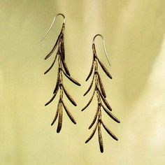 """Rosemary for remembrance"""" - Shakespeare  These lovely earrings are quite memorable and will add a dash of flavor to any outfit you wear. Michael Michaud creates his unique jewelry by creating molds directly from botanical elements in a process similar to lost-wax casting.  Available at our website —  shopeblueskies.net"""