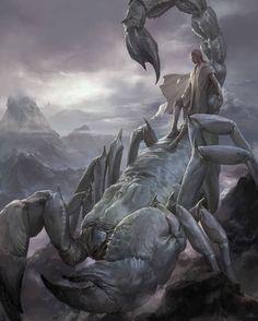 The Stunning Fantasy Artwork of Xiaodi Jin Monster Art, Fantasy Monster, Creature Concept Art, Creature Design, Mythological Creatures, Mythical Creatures, Fantasy Artwork, Fantasy Beasts, Arte Obscura