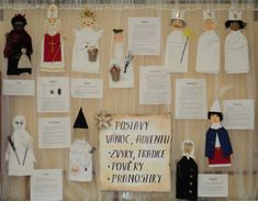Postavy adventu a Vánoc Advent, Kindergarten, Projects To Try, Photo Wall, Education, Frame, Winter, Christmas, Decor