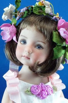 """For Effner Little Darling """"My Little Rosebud"""" Vintage emb Organdy esm LOVELY CM"""