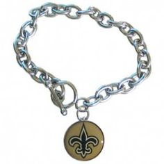 Saints Charm Bracelet #Saints #NOLA #Jewelry