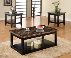 Appealing Marble Top Coffee Table