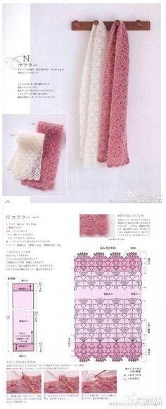 Crochet Shawl Diagram, Crochet Mandala Pattern, Crochet Stitches Patterns, Crochet Chart, Crochet Doilies, Crochet Lace, Crochet Shawls And Wraps, Crochet Scarves, Crochet Clothes