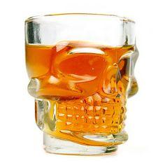 O crânio fresco 2,5 oz Whiskey Shot Glass Cerveja (4-Pack)