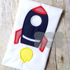 rocket. applique circle