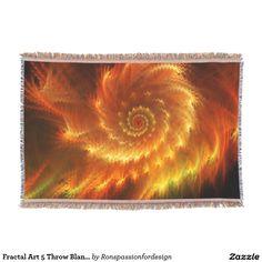 Fractal Art 5 Throw Blanket