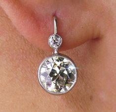 Art Deco Old European cut Diamond Drop Hanging Diamond Earing, Diamond Drop Earrings, Diamond Jewelry, Gold Earrings, Wing Earrings, Cross Earrings, Diamond Brooch, Gold Bracelets, Pearl Diamond