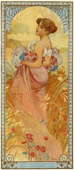 1900 The Seasons 'Summer' lithograph 73 x 32 cm © Alphonse Mucha Estate/Artists Rights Society (ARS), New York/ADAGP, Paris