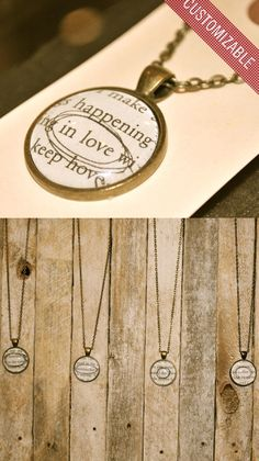 A Novel Necklace - Custom Necklaces from your favorite novels for your favorite person/people.