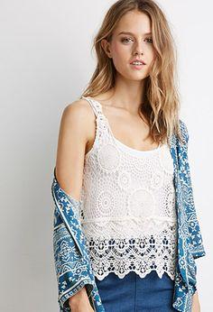 Floral Crochet Top | Forever 21 - 2002247407