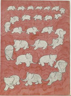 Babar - Jean de Brunhoff - Final watercolor for the endpapers, 1931