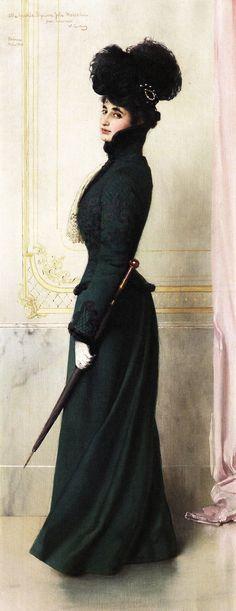 mote-historie:  Portrait of Jole Moschini Biagini 1901 by Vittorio Matteo Corcos (Italian, 1859-1933) Oil on canvas Private collection