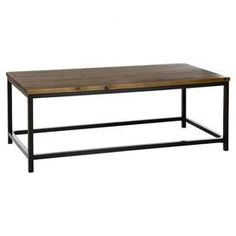 Bring a touch of industrial-chic to your home with this fir wood coffee table. Team with other wood finishes to create an informal living room.     Product: Coffee tableConstruction Material: Fir wood and metalColour: Medium oakFeatures: Industrial-inspired designDimensions: 44.96 cm H x 121.92 cm W x 60.96 cm D Assembly: Assembly required