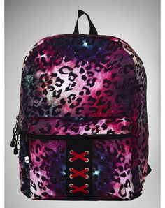Party points to ME! I just found the Pink Leopard Galaxy Corset Backpack from Spencer's. Visit their mobile website to get this item and more like it.