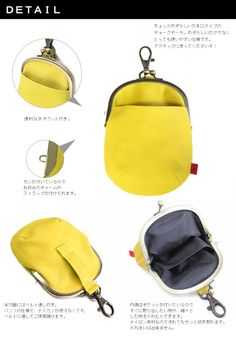 【在庫商品】がま口チョークポーチ(大)【帆布・がまドット大判】 Handbag Tutorial, Coin Purse Tutorial, Japan Bag, Clutch Bag Pattern, Diy Backpack, Frame Purse, Diy Purse, Bag Patterns To Sew, Big Bags