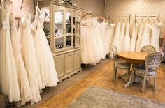 Stunning collection of award winning designer at Dress Me Pretty Bridal Room