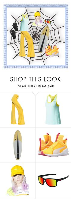 """""""Surfing The Web"""" by jeanstapley ❤ liked on Polyvore featuring Balmain, Puma, Surf Is Dead, Oakley and Burton"""