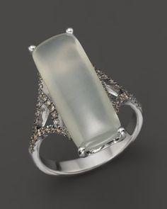Badgley Mischka Grey Moonstone And Brown Diamond Ring Jewelry & Accessories - Fine Jewelry - Rings - Bloomingdale's Jewelry Rings, Jewelery, Jewelry Accessories, Fine Jewelry, Moonstone Jewelry, Vintage Jewelry, Badgley Mischka, Gemstones, Silver