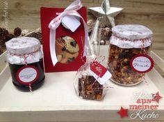 Plätzchenvariation, Glühweingelee, Weihnachtsmüsli und Lebkuchenschokolade