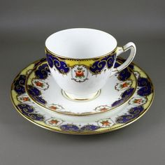 Tea Cup Art, Tea Cups, Coffee Cups, Tea And Crumpets, Single Rose, Teapots And Cups, Art Deco Period, Tea Cup Saucer, Plate Sets