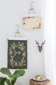 DIY Hanging Calendars by Ashley Rose of Sugar & Cloth on the #AnthroBlog