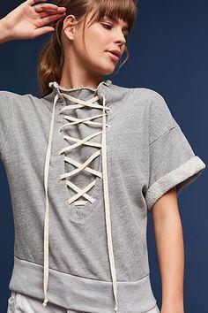 T.La Lace-Up Sweatshirt