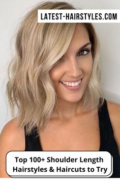 Looking for cute and easy to style shoulder length hair ideas? Click here to see these popular shoulder-grazing hairstyles and haircuts! (Photo credit IG @christinagarciasalon) Blonde Angled Bob, Short Blonde Bobs, Easy Hair Cuts, Medium Hair Cuts, Blonde Bob Hairstyles, Hairstyles Haircuts, Medium Length Blonde, Bob Hair Color, Long Face Shapes