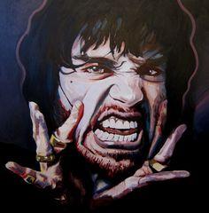 (Scream) Acrylic on canvas - 120 x 120 cm