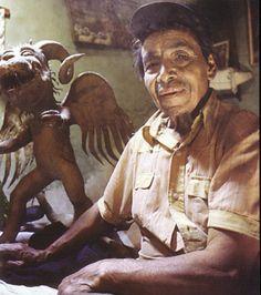 Pedro Linares - originator of alibrijes (brightly colored Oaxacan-Mexican folk art sculptures of fantastical creatures)