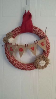 Awesome February wreath. Winter wreath good for Valentines day