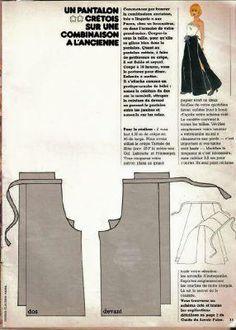Patron du pantalon crétois -cadeau de fin d'année n° 14 - 103 idées de Joline