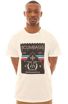 LRG Tee Scumbags Unite Slim Fit in White: Karmaloop