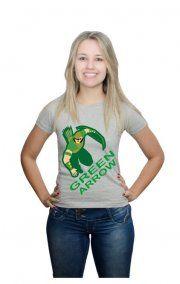 Camiseta Arqueiro Desenho Verde