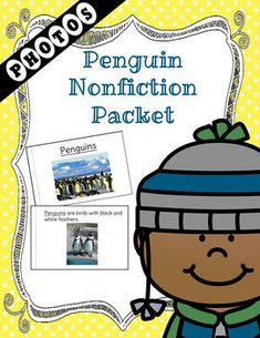A non-fiction unit packed with Penguin information and real photos.  Perfect for the Autism/ESE class.  The packet contains realistic photographs for better understanding of the images.  Generalization can be easier when images are realistic.The packet contains the following:Level 1 Book  A book with an easier reading level and the key word for the packet is underlined throughout.