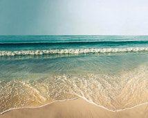 Items similar to large ocean photography beach nautical decor fine art photography prints coastal decor vintage inspired large photography teal on Etsy Beach Canvas Art, Ocean Canvas, Beach Wall Art, Ocean Art, Photography Beach, Fine Art Photography, Landscape Photography, Nature Photography, Photography Tips