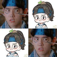 Baekhyun oppa so cute Chanbaek Fanart, Baekhyun Fanart, Kpop Fanart, Baekhyun Chanyeol, Moon Lovers Cast, Moon Lovers Drama, Exo Kokobop, Kpop Exo, Baekhyun Moon Lovers