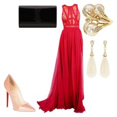 """Untitled #26208"" by edasn12 ❤ liked on Polyvore featuring Christian Louboutin and Yves Saint Laurent"